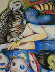 "Fear, pastel on paper, 20""x 26"", 2004."